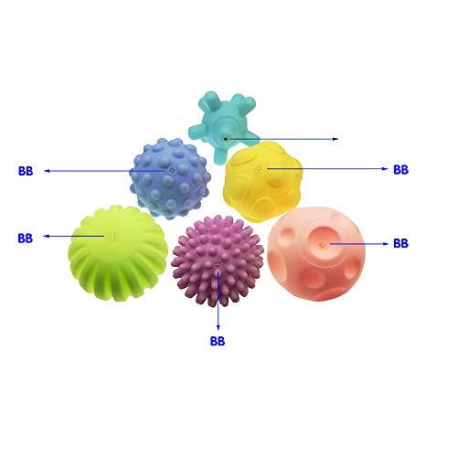 Beito Juguetes de baño para niños con diseño de la pelota de baño, 6 bolas
