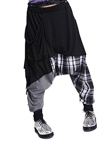 Damen Pluderhose Kariert Gestreift Spleiß Loose Casual Party Stil Hippie  Hose Elegante Hipster Elastische Taille Bequeme Lightweight Haremshose  Aladinhose ... 5065294941