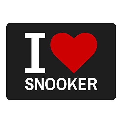 Mousepad Classic I Love Snooker schwarz