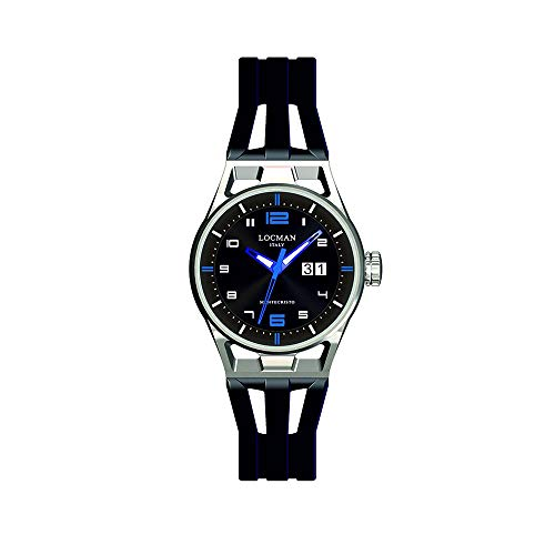 Men's Watch Montecristo Solo Tempo Blue Locman