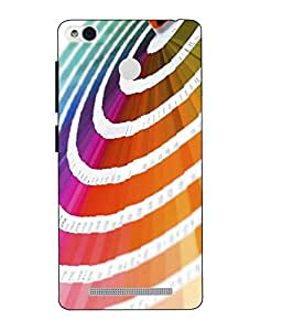 Snazzy Printed Multicolor Hard Back Cover For Redmi 3S Prime