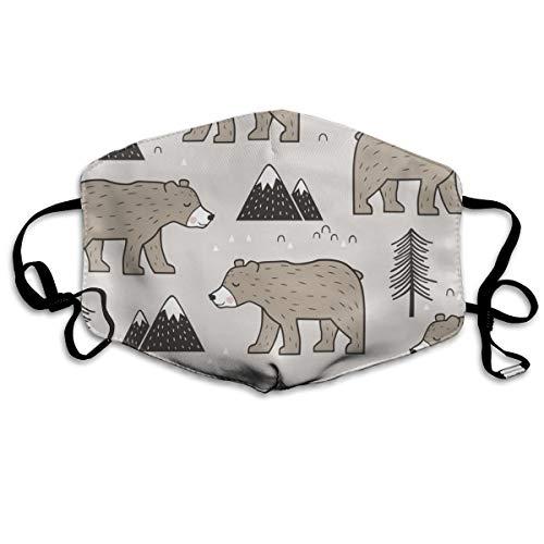 Mountain Bear Woodland Anti Dust Mask Anti Pollution Washable Reusable Mouth Masks (Scubapro-ausrüstung)
