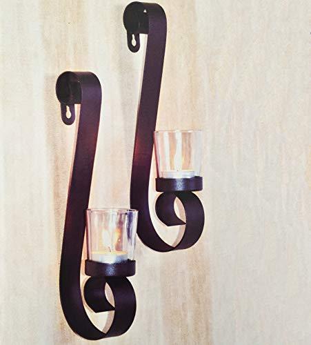Mojawo Elefante Diseño de Metal, 2Unidades Soporte de Pared para Vela Candelabro...