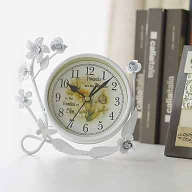hhbo-7-white-ruffles-ferro-tabletop-clock-h-country-style