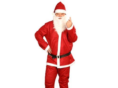 Gru Jacke Kostüm - gartentotal Weihnachtsmannanzug Nikolaus-Kostüm 5tlg