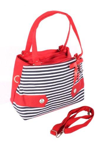 SugarShock Damen Fifites Streifen Uniform rockabilly RETRO Anker Handtasche Tasche