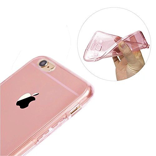 iPhone SE Hülle, iPhone 5S Hülle, MOMDAD Beidseitiger 360°Full Body Schutzhülle für iPhone SE 5S 5 Double Case Cover Telefonkasten Touchscreen TPU Silikon Transparent Front Back Schutz Ultra Dünn Kris QB-ROSE Gold