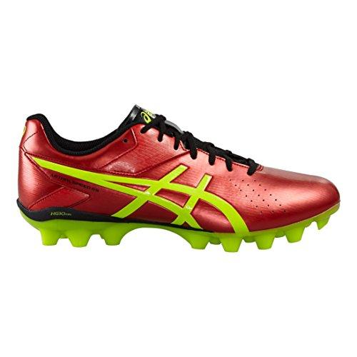 Bottes de football Asics Lethal Speed ??RS Hommes rouge intense/jaune fluo/noir