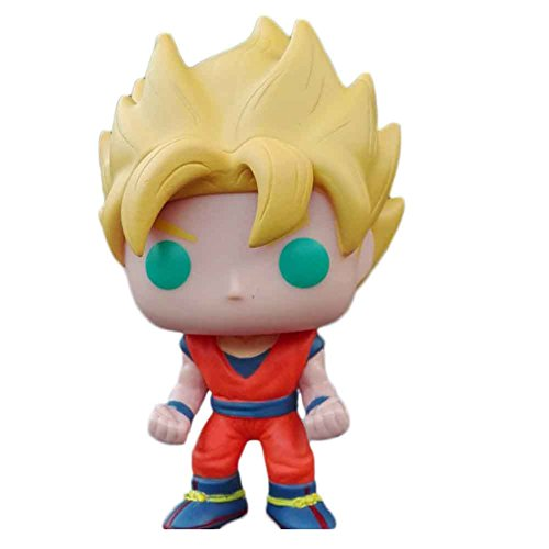 Loheag Clinor POP UP Vinylfigur, Animation Dragonball Z Super Saiyan Goku Vinyl Figur - Trunks / Son Goku / Kuririn / Buu - Sammlung und Bestes Geschenk für Kinder Mädchen Anime-Fans (Super Saiya Goku)