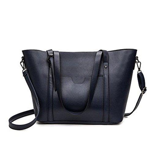 Meoaeo Europa Und Die Vereinigten Staaten 2017 Neue Tasche Handtasche Tote Schulter Diagonal Im Mittleren Alter Dame, Grau blue