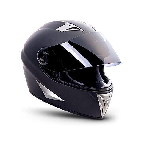 SOXON ST-550 Fighter · Integral-Helm Scooter-Helm Urban Motorrad-Helm Roller-Helm Cruiser Sport Helmet Sturz-Helm · ECE zertifiziert · inkl. Sonnenvisier · inkl. Stofftragetasche · Schwarz · XS (53-54cm) - 5