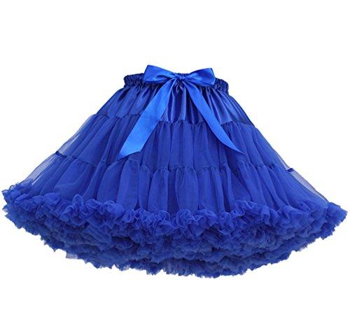 Falda Tul Capas Faldas de Tul Falda Capa Tutu Mujer Disfraces Con Tutu Tutus para Adultos Disfraz Adulto Tutú Pettiskirt Cortas Pollera de Tul Colores Ballet Mini Skirt Princesas Bailarina Azul