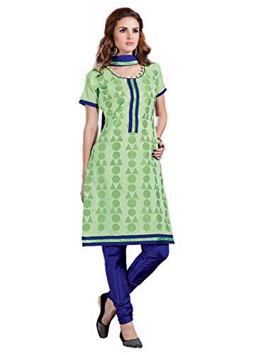 Light Green Salwar Kameez Chanderi Silk Chudidar Suit