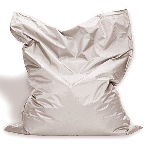 Sitzkissen XL-XXXXL Sitzsack Bodenkissen Kissen Sack In-und Outdoor (XL= 145 x 100, Beige)