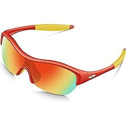torege TR90Flexible Niños polarizadas gafas de sol gafas para niños niñas edad 3–10TR001, Red&Yellow