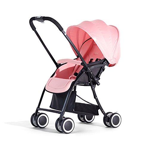 LZTET Kinderwagen Buggy Jogger Sportwagen Kinderbuggy Klappbar 0-3 Jahre Alt,Pink