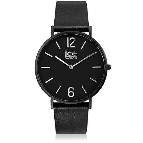 Ice-Watch - CITY tanner Black - Montre noire mixte avec bracelet en cuir - 001513 (Medium)