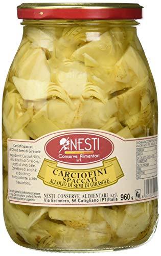 Nesti conserve alimentari carciofi spaccati all' olio di girasole - pacco da 6 x 960 g