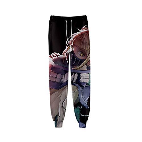 H&Y Fan D'anime Pantalon De Jogging Imprimé 3D My Hero Academia Pantalon De Survêtement Décontracté,M