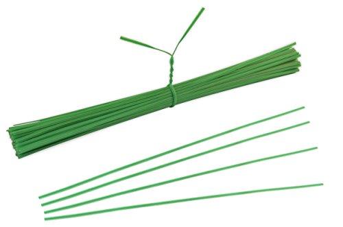 * 100 Stück grüner Bindedraht 20 cm mit Kunststoff ummantelt | Bindestreifen Drahtstreifen Drehbinder für Blumenbinden Basteln Abfallbeutel