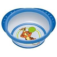 NUK 10255152 Disney Easy Learning Esslern-Schale mit Deckel, Anti-Rutsch-Griffe, rutschfester Boden, BPA-frei, blau