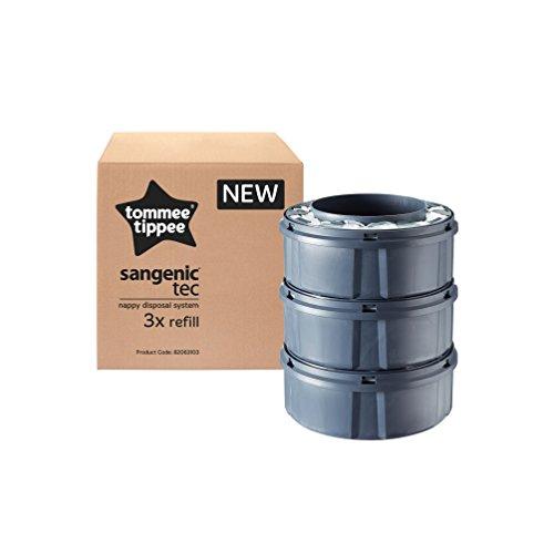 Tommee Tippee Tec Nachfüllkassetten für Sangenic Windeltwister, 3er-Pack, Frustfreie Verpackung - 4