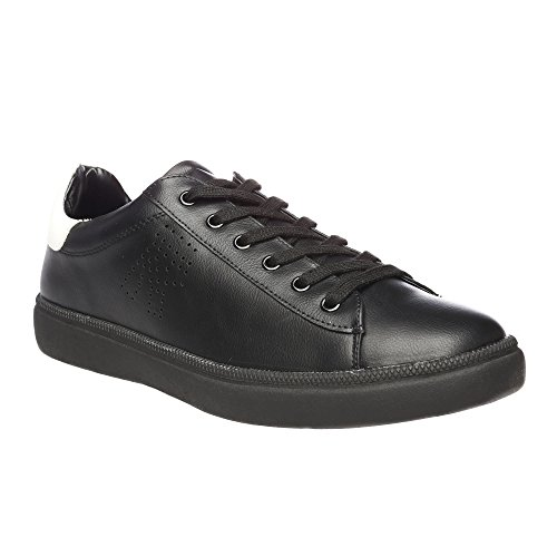 RIFLE Sneakers da uomo, scarpa bassa stringata - Mod. 162-M-383-40 Nero - Bianco