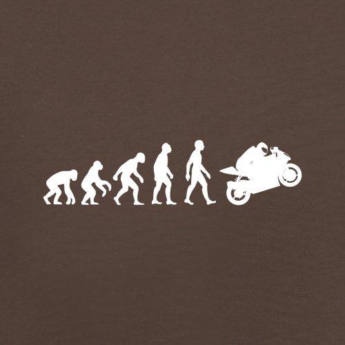 Evolution of Man - Superbike - Herren T-Shirt - 13 Farben Schokobraun