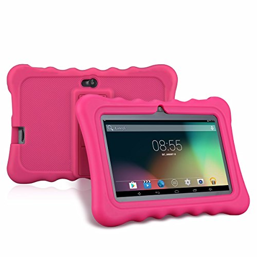 Ainol Q88   Tablet Infantil de 7 Pulgadas Android 4.4 (Regalo para Niños, 1024x600, 8GB ROM, Soporta Tarjeta TF 64GB, con Carcasa Funda Sicolina), Rosa