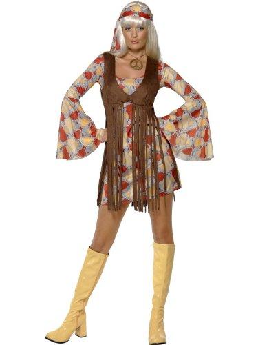60er Groovy Baby mit Kleid und Weste, Größe M