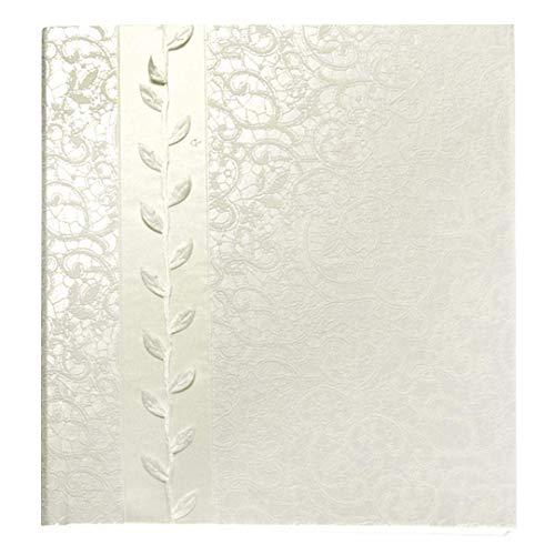 Goldbuch Gästebuch mit Lesezeichen, La Belle, 23 x 25 cm, 176 weiße Blankoseiten Schreibpapier, Kunstleder mit edlen Applikationen, Perlmutt, 48677