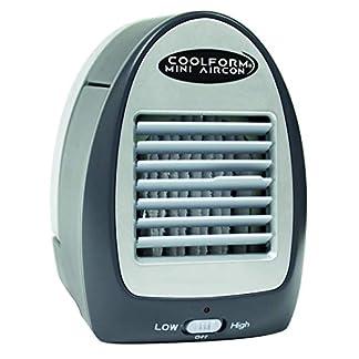 INDUSTEX Coolform Mini Aircon Aire Acondicionado Aire Frío Portátil Personal Enfriador Ventilador Refrigerador Funciona con Agua Silencioso para Espacios Pequeños: Baño, Dormitorio, Cocina