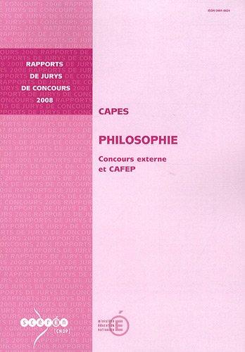 CAPES Philosophie : Concours externe et CAFEP par Stéphane Chauvier