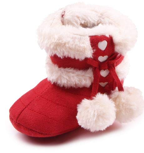 Mishlee Baby Shoes, Baby Boots Winter Shoes, Christmas Boots – Red Color, Brown Color