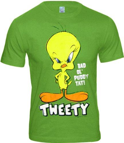 RT Retro Comic Herren T-Shirt TWEETY BAD OL PUTTY TAT - LIGHT OLIV Gr. XL (L51) ()