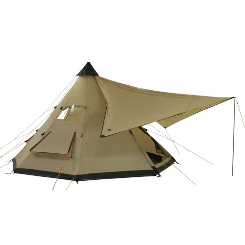 41%2BsMxYXlVL. SS500  - 10T Outdoor Equipment Waterproof Shoshone Unisex Outdoor Teepee Tent available in Beige  - 8 Persons