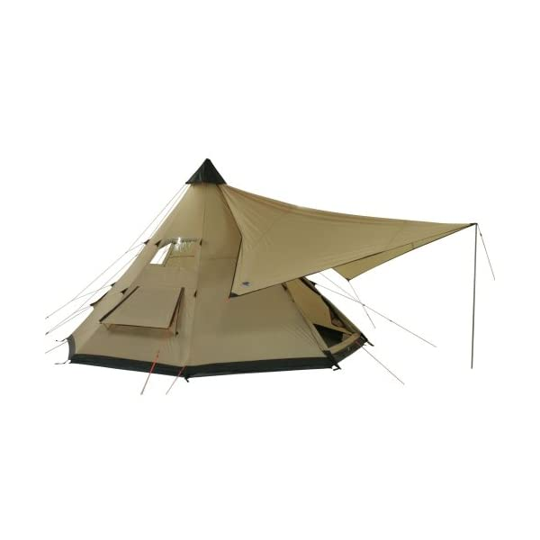 10T Outdoor Equipment Waterproof Shoshone Unisex Outdoor Teepee Tent available in Beige  - 8 Persons 7