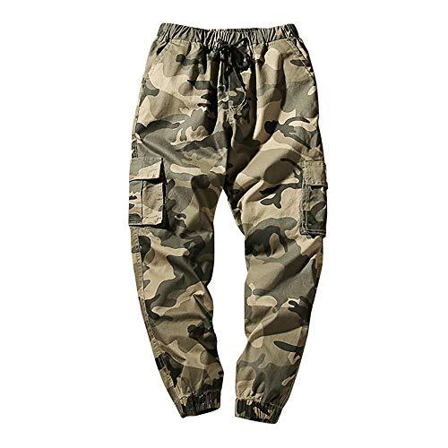 a67144e1aa813 YanHoo-pantaloni UOMO Pantaloni Lunghi Jogging Pantaloni di Sport Chino  Jogger Tuta Sportiva