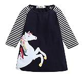 H-vuality-C Baby Mädchen Mädchen Kleid T-Shirt langärmelige Mode Mädchen Prinzessin Kleid langärmeligen Rock Verschleiß Rock * 1