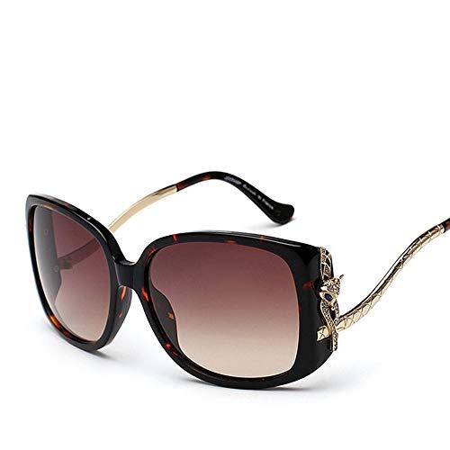 Polarisierte Sonnenbrille, Mode High-Ended Fox Head Sonnenbrille für Frauen Sonnenbrillen Brille (Farbe : Amber Frame)