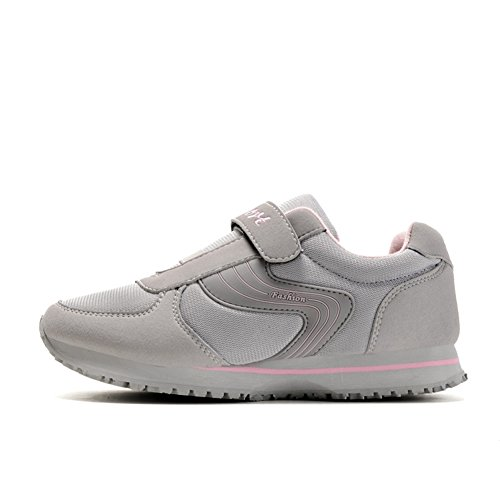 Chaussure de sport fitness exercice sneakers vieux homme femme adulte mixte gris clair