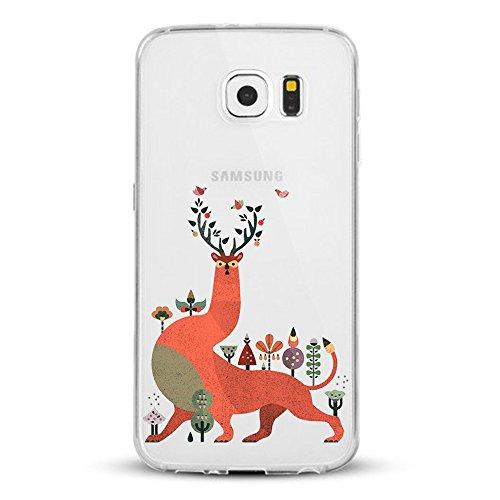 Qissy® Cover Samsung Galaxy S7 Custodia Bumper Morbida Crystal Clear TPU Silicone disegno pittura 3D 15