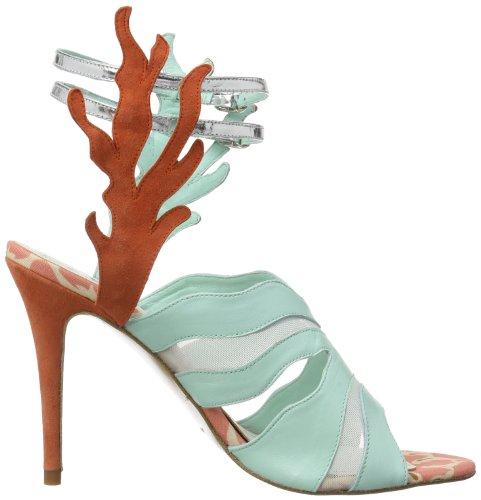Beverly Feldman Capri, Bride cheville femme Multicolore - Mehrfarbig (Coral Multi)