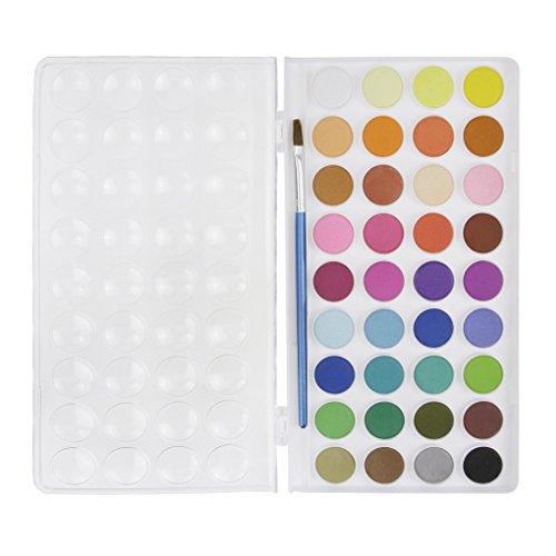 Kinder Ungiftig Aquarellfarben Set Aquarellkasten Wasserfarben Set mit 36 Wasserfarben Farbkasten Aquarell Farbe Kuchen mit Pinsel