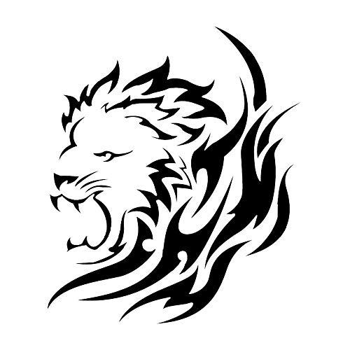 Zyunran Auto-Aufkleber Merchandiseprodukte Aufkleber Auto autoaufkleber einfache tieraufkleber löwe Auto autoaufkleber hohl erste reflektierende Kratzer 15 * 12,8 cm schwarz