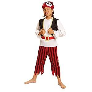 My Other Me Me - Disfraz de Pirata calavera para niños, talla 5-6 años (Viving Costumes MOM00572)