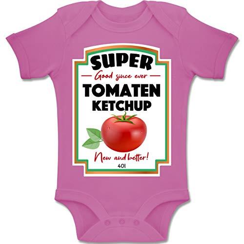Shirtracer Karneval und Fasching Baby - Ketchup Kostüm Funny - 6-12 Monate - Pink - BZ10 - Baby Body Kurzarm Jungen (Ketchup Kostüm Baby)