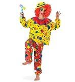 KarnevalsTeufel Kinderkostüm Clown Jupp Karneval Harleken Spaßvogel Crazy Clown bunt Kostüm für Kinder (164)