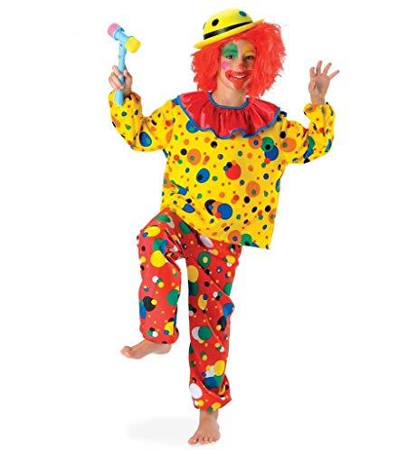 (KarnevalsTeufel Kinderkostüm Clown Jupp Karneval Harleken Spaßvogel Crazy Clown bunt Kostüm für Kinder (98))