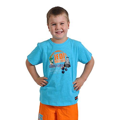 LEGO Star Wars Jedi Master vs. Dark Lord Kinder T-Shirt Timmy 553 Baumwolle türkis - 128